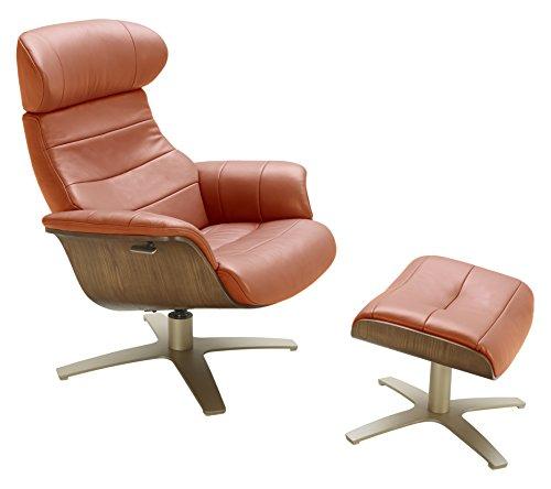 147-C Karma Pumpkin Chair Living Room Leather ()