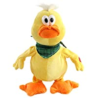 Houwsbaby Quacking Duck Musical Duckling Stuffed Animal with a bib Walking Singing and Waving Ducky Electronic Interactive Animate Barn Plush Toy Halloween Christmas, 12 inches (Yellow)