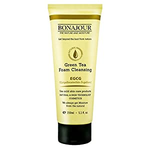 [BONAJOUR] Green Tea Natural Pores Foam Cleanser – The Best Facial Wash for Acne & Oily skin 5.2Fl.oz