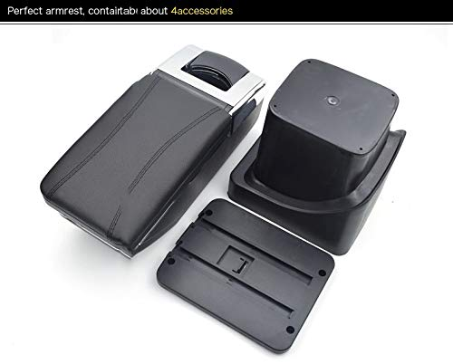 Gray SENYAZON Armrest Box Central Store Mk2 Content Box for Ford Focus 2 Interior Armrest Storage Car-Styling Console Accessory for Ford Focus Parts