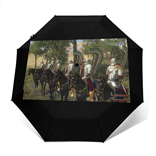 SSI-HAFZ1 Mount & Blade with Fire & Sword Fashion Automatic Tri-fold Umbrella for Everybody Outer Print One Size (Mount And Blade With Fire And Sword)