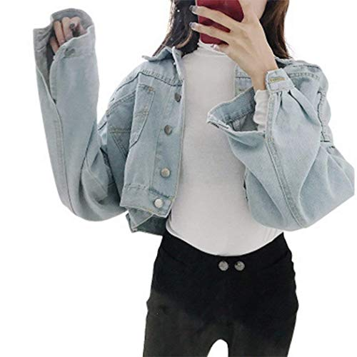 Donna Ragazze Hellblau Giacca Libero Cappotto Primaverile Corto Giacche Blu Tempo Rinalay Autunno Caftano Relaxed Jeans Eleganti AZnOww6vx