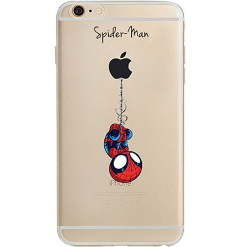 "Batman, Catwoman, Joker, Iron Man, Captain America, Spider Man, The Hulk, Thor Jelly Clear Case for Apple iPhone 6 / iPhone 6s (4.7"") ( Spider Man)"