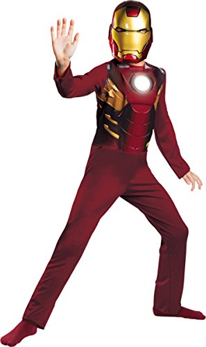 Tony Stark Costume Ideas (Disguise Costumes Iron Man Mark 7 Avengers Basic, Red/Gold,)