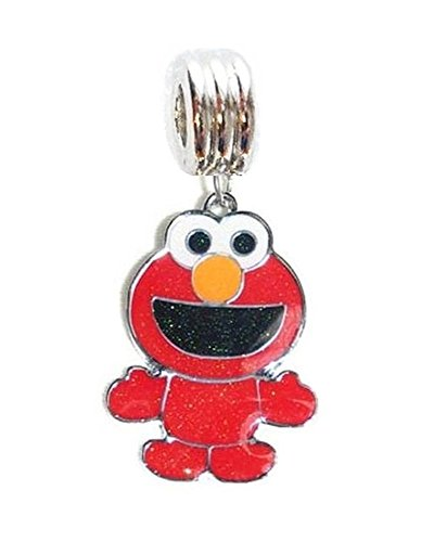 Heavens Jewelry Big Baby ELMO Sesame Street Charm Slider Pendant ADD to Necklace, Clothing Accessories, PET Collar, Keychain, -
