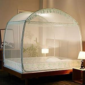 Yurt casa Doppio Semplice 1,5 m tenda zanzariera, facile da installare 1,8 m letto con staffa Dormitorio zanzariera… 12 spesavip