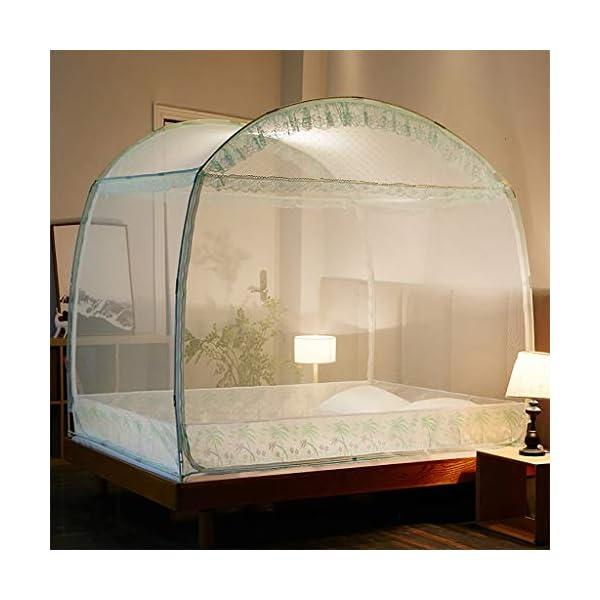 Yurt casa Doppio Semplice 1,5 m tenda zanzariera, facile da installare 1,8 m letto con staffa Dormitorio zanzariera… 1 spesavip