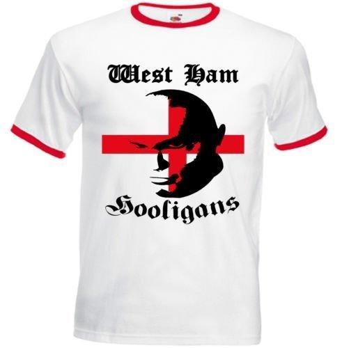 West Ham Hooligans - Red Camiseta de talla S Blanco blanco: Amazon.es: Ropa y accesorios