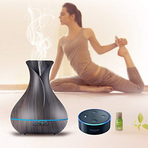 APP Electric Aromatherapy humidifier Work with Alexa Echo Diffuser/Serene Wick Aroma Amazon Alexa Diffuser for Large