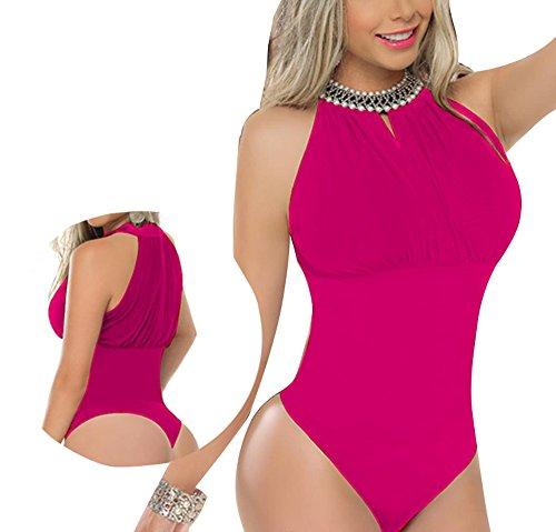 ZARINA®Body Colombiano Estampado Varios Colores - Body Con Faja 012 Rojo