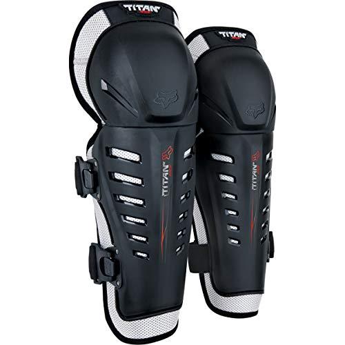 Fox Racing YTH Titan Race Knee/SHIN Guards, Black, One Size
