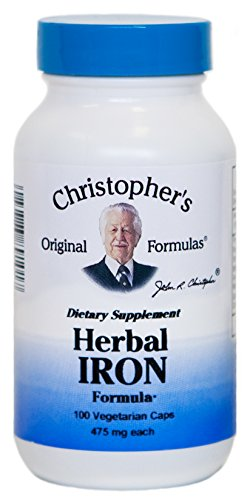 [Dr. Christopher's Herbal Iron Formula 100 Caps Family Formulations] (Herbal Iron)