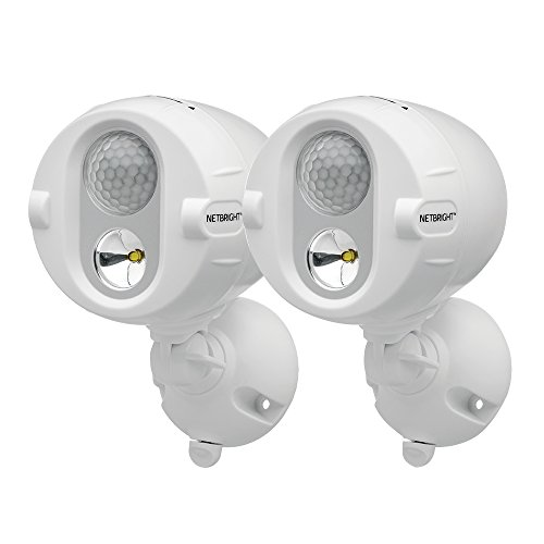 (Mr Beams MBN342 Networked LED Wireless Motion Sensing Spotlight System with NetBright Technology, 200-Lumens, White, 2-Pack)