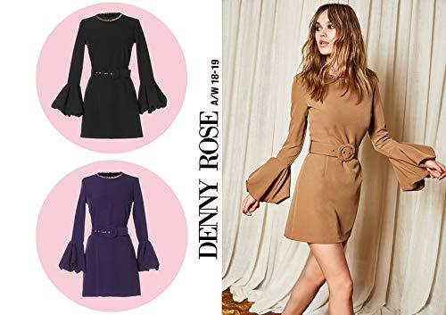 8ead24f19594 Denny Rose Abito Vestito Donna Autunno Inverno 2018-19 821DD10002   Amazon.it  Abbigliamento