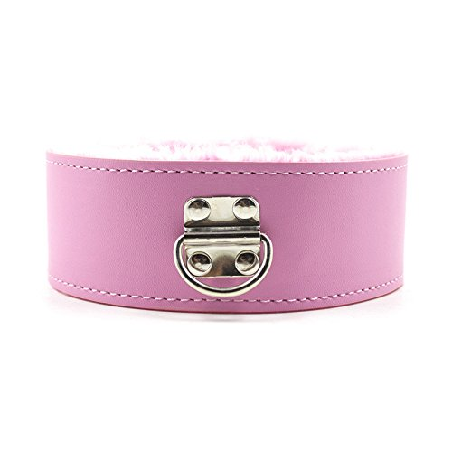 Soft Plush Leather Sex Collar with Leash Fetish Bondage Toys for Adult Slave Games BDSM Erotic Porn Products Juguetes Eroticos Pink