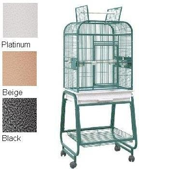 HQ's Opening Flat Top Parrot Cage with Cart Stand, Small, Bl