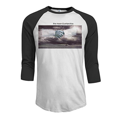 JeremiahR Modest Mouse The Moon & Antarctica Men's 3/4 Sleeve Raglan Baseball T Shirts Black L