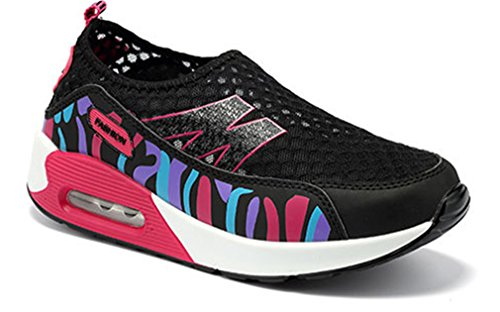 slip Mesdames camouflage work chaussures Noir out respirant on fitness plate de été NEWZCERS forme Yn8qdvv