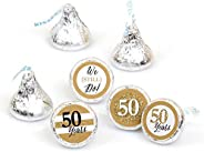 We Still Do - 50th Wedding Anniversary - Party Round Candy Sticker Favors – Labels Fit Hershey's Kisses (1 She