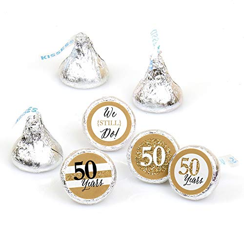 We Still Do - 50th Wedding Anniversary - Party Round Candy Sticker Favors - Labels Fit Hershey's Kisses (1 sheet of 108) ()