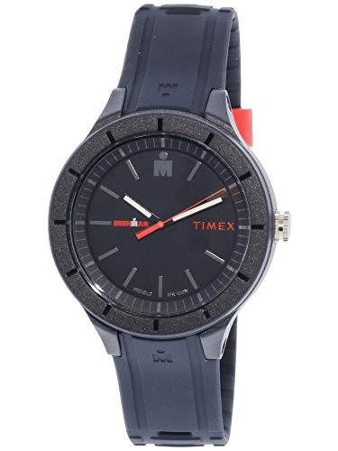 man Essential Urban Analog 42mm Navy/Red Silicone Strap Watch ()