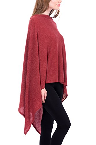 bfdb695f41f Modern Kiwi Solid Long Knit Asymmetric Wrap Poncho Topper ...