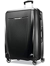 Winfield 3 DLX Hardside Expandable Luggage with Spinners, Black