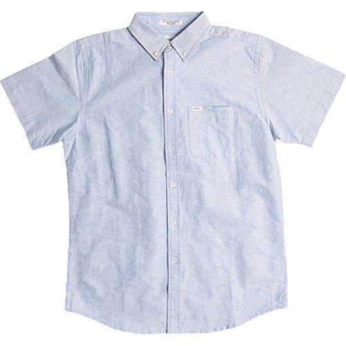 Matix Mens Tom Oxford Button Up Short-Sleeve Shirt Small Work Blue - Short Matix Clothing