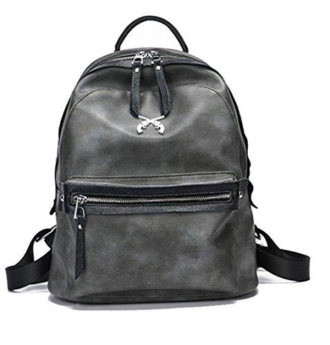 Ghlee - Bolso mochila  de Material Sintético para mujer gris