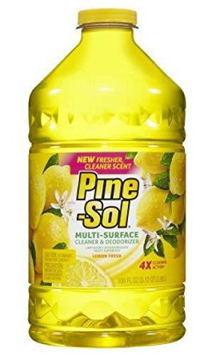 (Pine-Sol Multi-Surface Cleaner, Lemon Fresh, 100 oz - Pack of 2 )