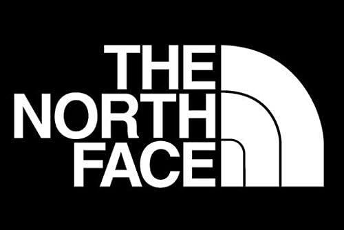 THE NORTH FACE ノースフェイス デザイン ロゴ ステッカー シール デカール ホワイト