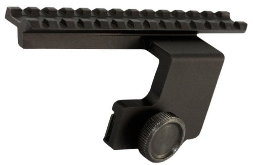 Ultimate Arms Gear Tactical Aluminum Ruger Mini-14 , Mini-30 , AC-556 , And Ranch Rifle Elevated Weaver Picatinny Scope Sight Light Laser Side Mount