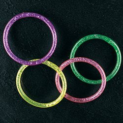 Fun Express Water Glitter Bracelets - 12 Piece Pack