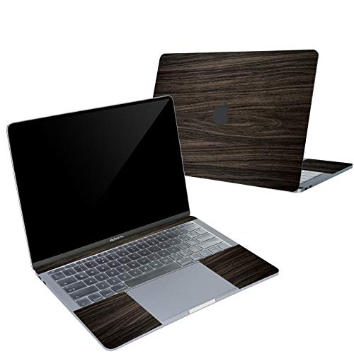 Digi-Tatoo 4-in-1 MacBook Skin Decal Sticker Compatible with Apple MacBook Pro 13 Inch w/o Touch Bar (Model A1708), Full Body Protective, Removable and Anti-Scratch, Wood Texture