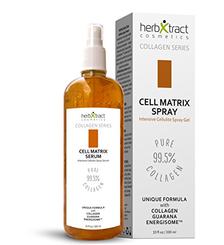Cell Matrix Spray - Anti-cellulite Firming and Shaping Gel - Natural Fat Burning Formula by HerbXtract - 10 Fluid Ounces