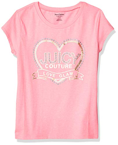 (Juicy Couture Girls' Big Fashion Tee, Pink Small (7))