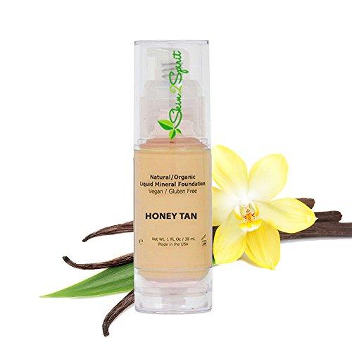 Better'n Ur Skin Organic Liquid Foundation (HONEY TAN - Warm, previous color Cork)| Natural, Buildable Coverage | Vegan | Cruelty Free | Sun Protection | Gluten Free | Non GMO (Organic Finish)