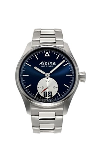 Alpina-Mens-STARTIMER-PILOT-BIG-DATE-Quartz-Stainless-Steel-Casual-Watch-ColorSilver-Toned-Model-AL-280NS4S6B