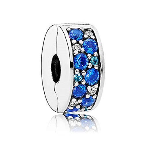 - SUNWIDE Shining Path Clip Elegant Spacer Charms fit Pandora Charms Bracelets (Blue)