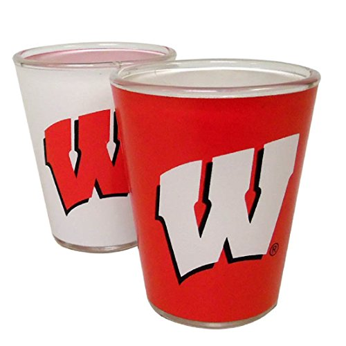 (Jenkins Enterprises Wisconsin Badgers Two Tone Shot Glass)