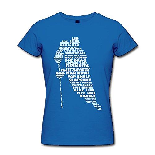 Q-QQ9 - Camiseta - para mujer Azul Real