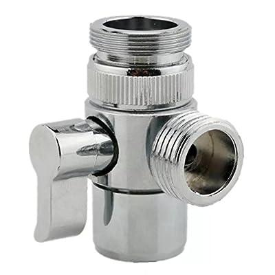 MissMin sink faucet diverter valve/adapter to bidet shower hose with aerator for bathroom/kitchen faucet