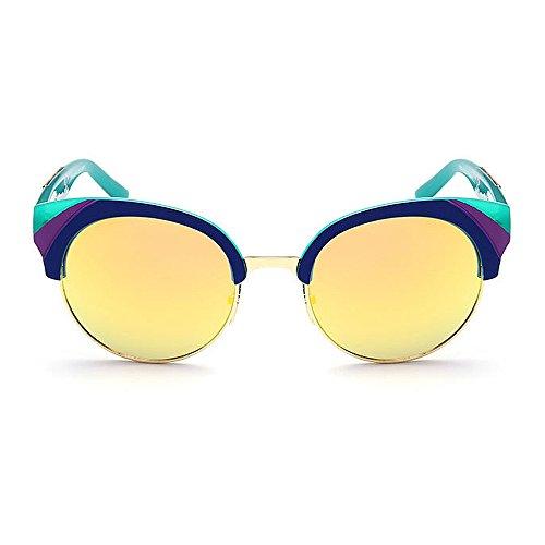 C4 Gu Lente Semi de Color Libre Protección Peggy Sol Viajar Color Unisex UV Montura al sin Conducción de C6 Aire Gafas con 1xSSqPfwd