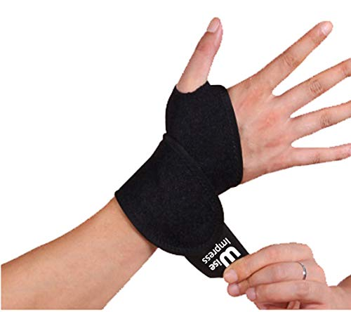Wrist Wraps Brace Support For Carpal Tunnel Arthritis - Compression Braces Stabilizer - For Men Women Kids - Left And Right Hand - One Hand Adjustable - Best For Weight Lifting Bowling Workout (Black)