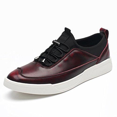 [XINXIKEJI]メンズデッキシューズ 通気 軽量 クッション性 スリッポン カジュアル ウォーキング 履き心地よい 歩きやすい 紳士靴  レッド ブラック ブラウン