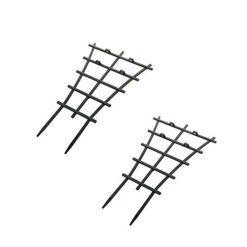 (Garden Plant Support,Plant Climbing Supports,Garden Trellis for Climbing Plants,Superimposed Flower Supports Dark Green,2pcs)