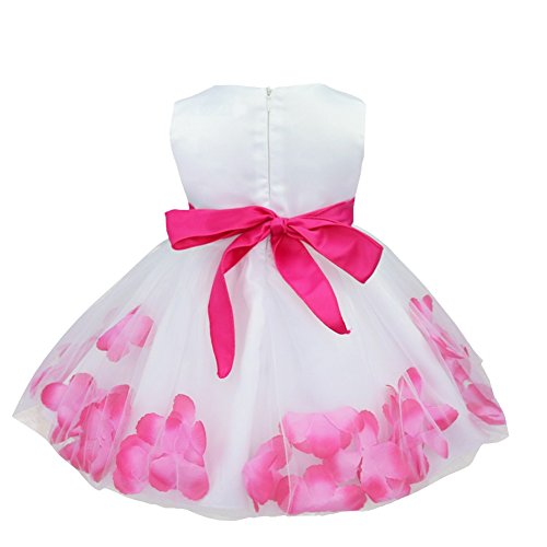Dress Baby Wedding Tulle Party Hot Pink TiaoBug Formal Toddler Girls Bridesmaid Petals Flower Easter Pageant Infant 0A1OnT
