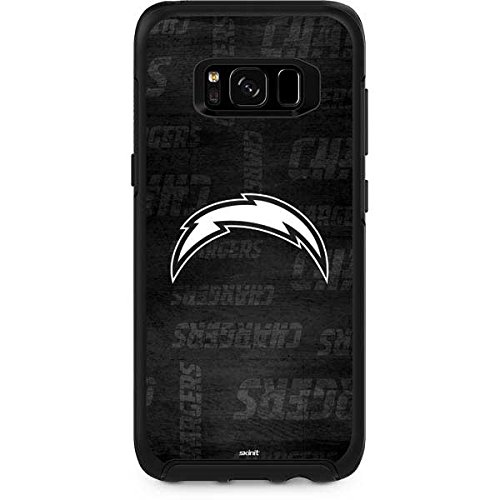 Skinit NFL Los Angeles Chargers OtterBox Symmetry Galaxy S8 Plus Skin - Los Angeles Chargers Black & White Design - Ultra Thin, Lightweight Vinyl Decal Protection by Skinit