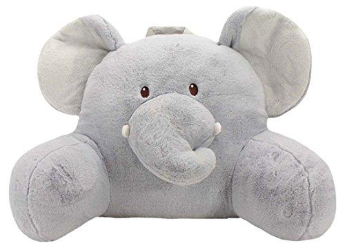 Adorable Elephant (Sweet Seats Adorable Elephant Children's Plush Floor Cushion with Velcro Storage Pocket on Back, Grey, 25