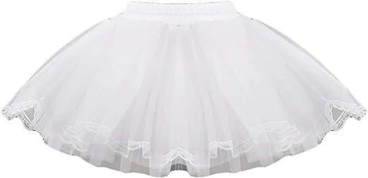 Magicxo - Falda para niña (3 Capas, Enaguas de la Rodilla), Color ...